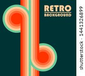 retro design background with... | Shutterstock .eps vector #1441326899