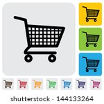shopping cart icons   signs  ...