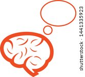 a brain with the blank idea   Shutterstock .eps vector #1441335923