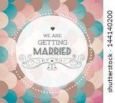 vector illustration. wedding... | Shutterstock .eps vector #144140200