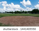 A View Of A Baseball Field...