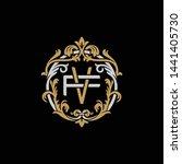 initial letter f and v  fv  vf  ...   Shutterstock .eps vector #1441405730