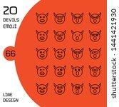devil face emoticons and avatar ... | Shutterstock .eps vector #1441421930