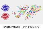 component falkland islands map... | Shutterstock .eps vector #1441427279