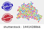 component berlin city map and... | Shutterstock .eps vector #1441428866