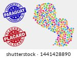 component paraguay map and blue ... | Shutterstock .eps vector #1441428890