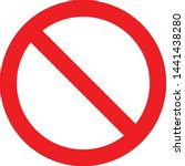 vector stop sign icon. red no... | Shutterstock .eps vector #1441438280