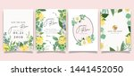 summer flower wedding... | Shutterstock .eps vector #1441452050