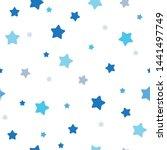 Stock vector cute seamless pattern children theme stars blue on light background vector illustration for kid 1441497749