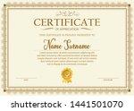 certificate. template diploma... | Shutterstock .eps vector #1441501070
