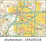 tulsa  oklahoma area map | Shutterstock .eps vector #144150118