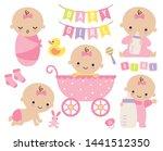 vector illustration of pink... | Shutterstock .eps vector #1441512350