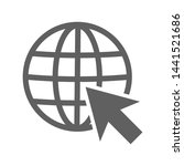 globe and cursor arrow  go to... | Shutterstock .eps vector #1441521686