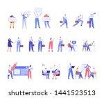 business people vector set.... | Shutterstock .eps vector #1441523513