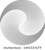 lines in circle form . spiral... | Shutterstock .eps vector #1441537679