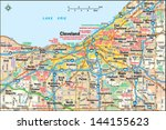 cleveland  ohio area map | Shutterstock .eps vector #144155623