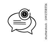 chat bubble concept line icon...