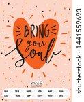 Cute Wall Calendar. 2020 Yearly ...