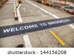 welcome to brooklyn sign at the ... | Shutterstock . vector #144156208