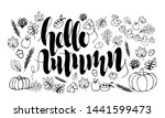 hand drawn card 'hello autumn'  ... | Shutterstock .eps vector #1441599473