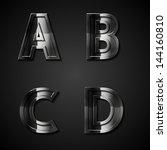 vector dark metal alphabet... | Shutterstock .eps vector #144160810
