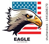 simple illustration of an eagle ... | Shutterstock .eps vector #1441608170