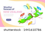 weather forecast map of new... | Shutterstock .eps vector #1441610786
