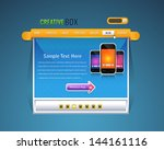 vector web template home page...