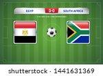 egypt vs south africa... | Shutterstock .eps vector #1441631369