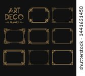 set of art deco borders and... | Shutterstock .eps vector #1441631450