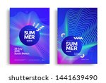 electronic music fest summer... | Shutterstock .eps vector #1441639490