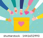 concept of charity and donation....   Shutterstock .eps vector #1441652993