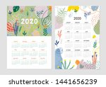 calendar 2020. set of 2... | Shutterstock .eps vector #1441656239
