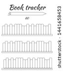 book tracker for filling by... | Shutterstock . vector #1441658453