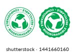 biodegradable  compostable and... | Shutterstock .eps vector #1441660160