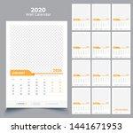 wall calendar 2020 template... | Shutterstock .eps vector #1441671953