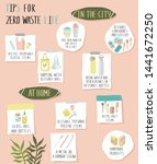 mood board with zero waste tips ... | Shutterstock .eps vector #1441672250