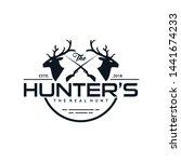 vintage hunter logo design... | Shutterstock .eps vector #1441674233