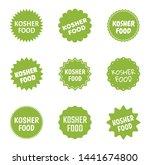 kosher food icon set  jewish... | Shutterstock .eps vector #1441674800