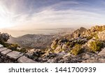 Table mountain view over Cape town, south africa