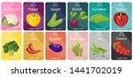 vegetables labels vector flat... | Shutterstock .eps vector #1441702019