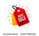 sale tag. wow sale. special... | Shutterstock .eps vector #1441708103