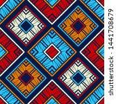 ethnic boho seamless pattern.... | Shutterstock .eps vector #1441708679