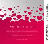 beautiful simple love...   Shutterstock .eps vector #1441718063