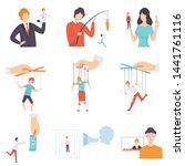 manipulation of people set ...   Shutterstock .eps vector #1441761116