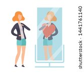 narcissistic woman character...   Shutterstock .eps vector #1441761140