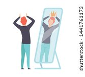 narcissistic man character... | Shutterstock .eps vector #1441761173
