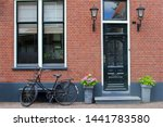 Facade Of Typical Dutch House...