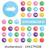 shiny vector arrow icons set