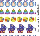 baby boy cute seamless pattern | Shutterstock .eps vector #144181666